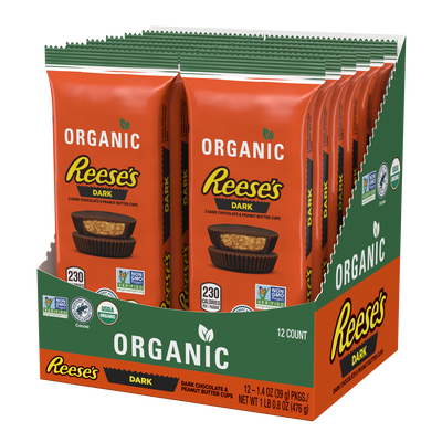 REESE'S Organic Dark Chocolate Peanut Butter Cups, 1.4 oz