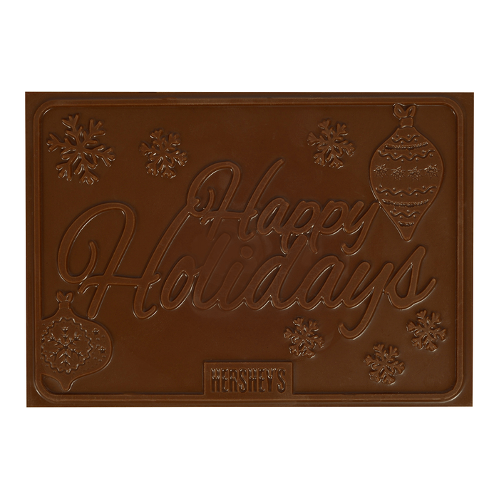 Image of HERSHEY'S Holiday Moulded Milk Chocolate Bar, 8 oz. Packaging