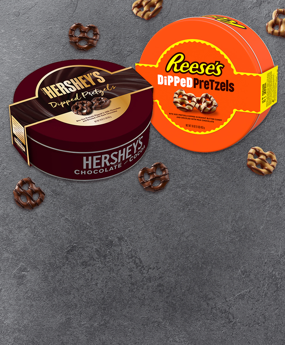 Salty, meet sweet--Hershey's and Reese's dipped pretzels