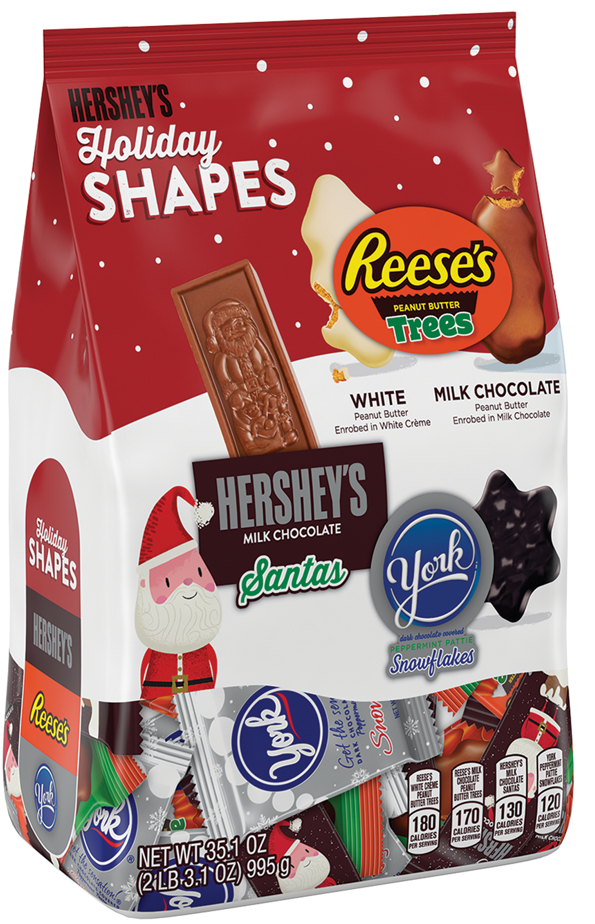HERSHEY'S Candy in Assorted Holiday Shapes, 35.1 oz.