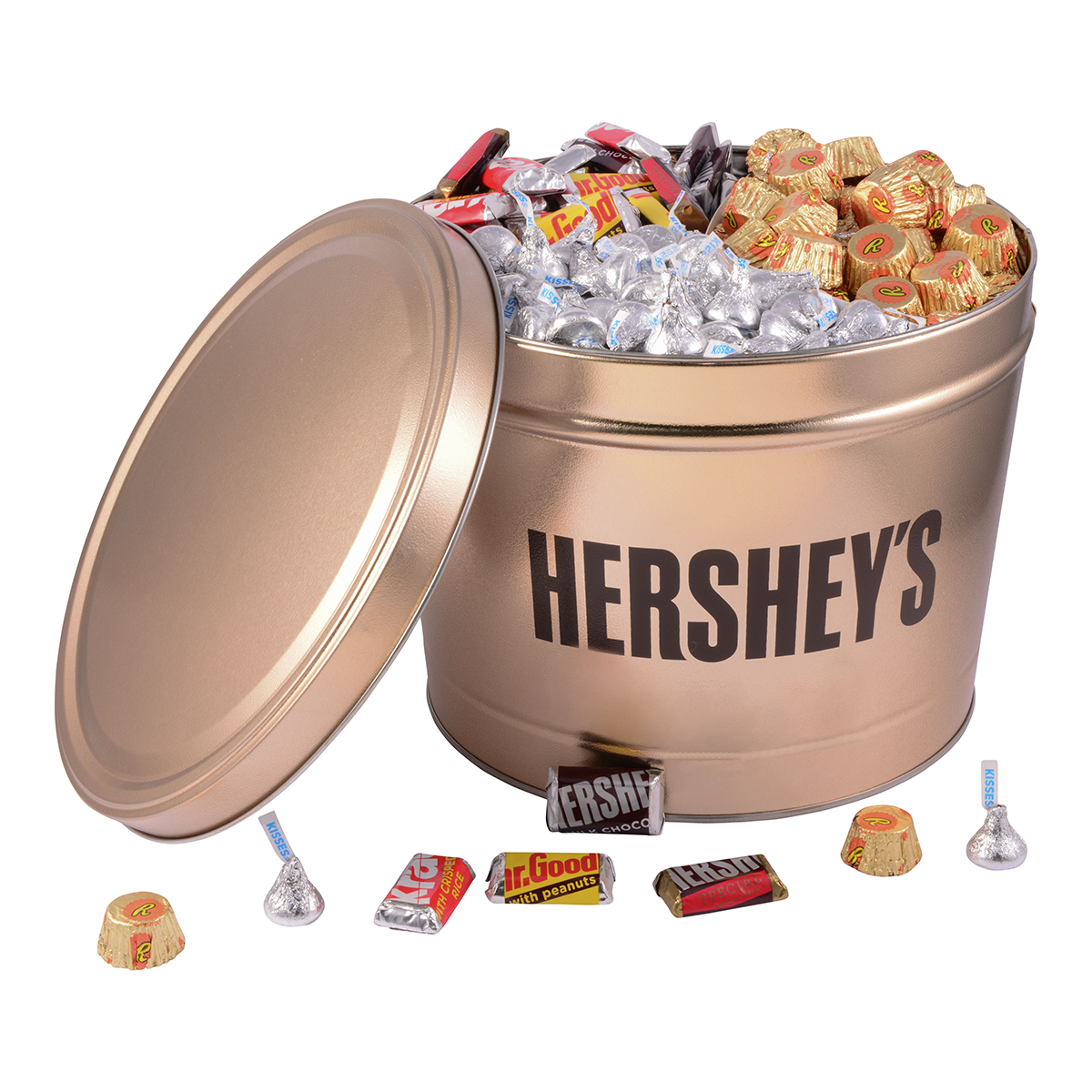 HERSHEY'S Gold Tin, 11 lbs.