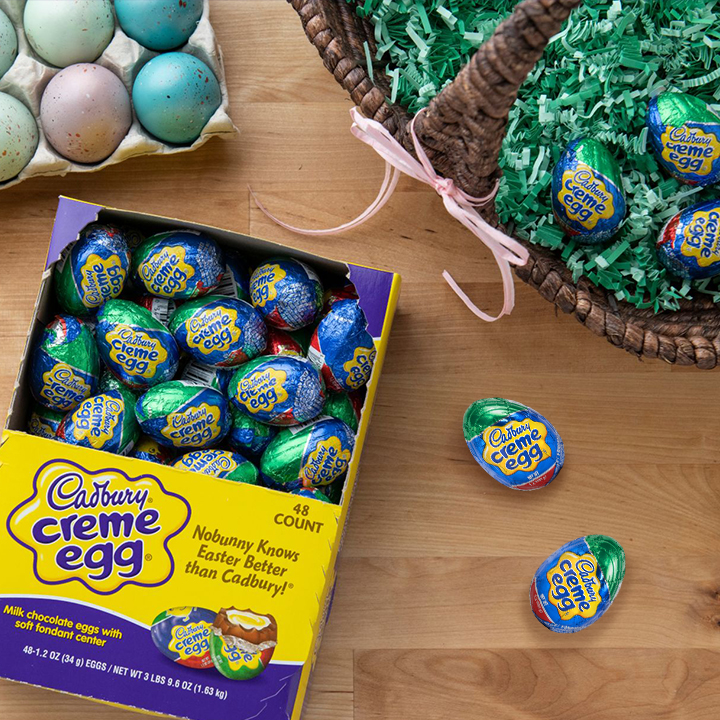 Easter Baskets need Cadbury Eggs