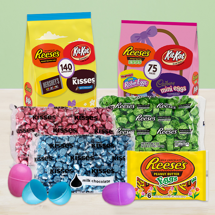 A bundle of Hershey's Chocolates for filling Easter eggs